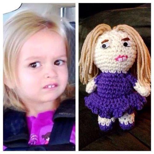 Little girl funny face meme
